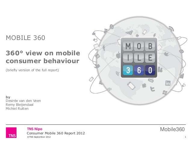 ©TNS September 2012Mobile360Consumer Mobile 360 Report 2012MOBILE 360360° view on mobileconsumer behaviour(briefly version...