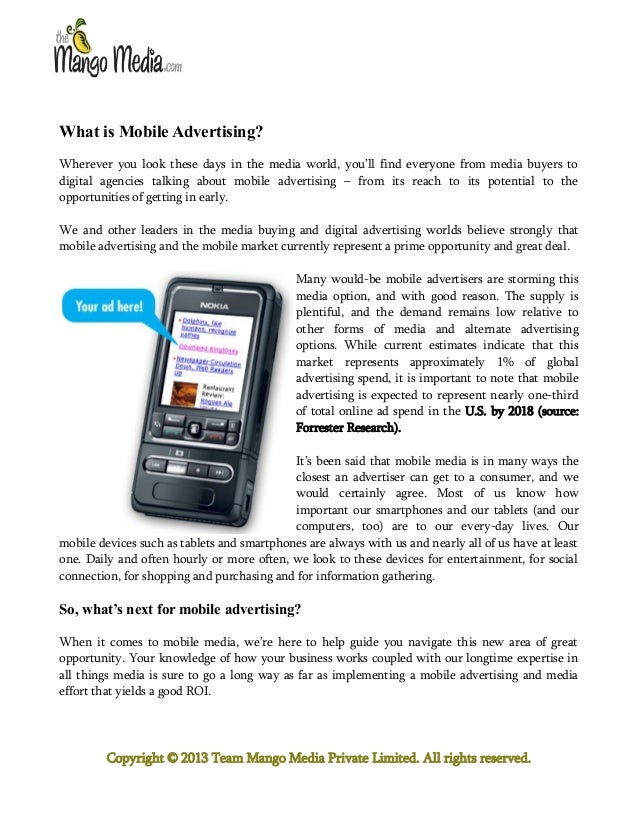 Mobile Advertising. What is the Next Big thing that Businesses Should Gear up for?