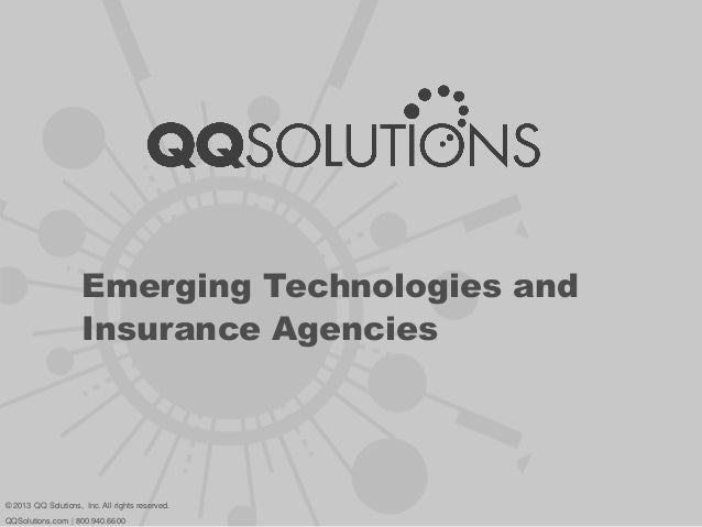 Emerging Technologies and Insurance Agencies
