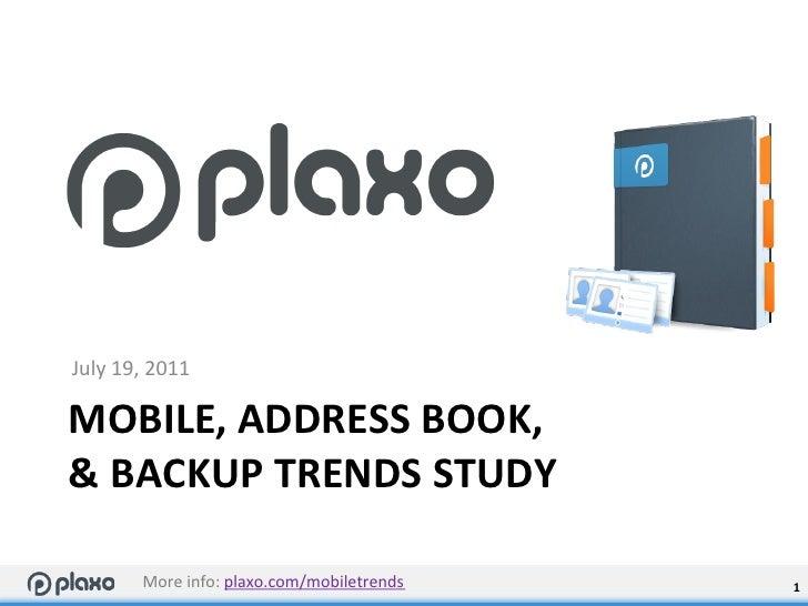 Mobile, Address Book, & Backup Trends