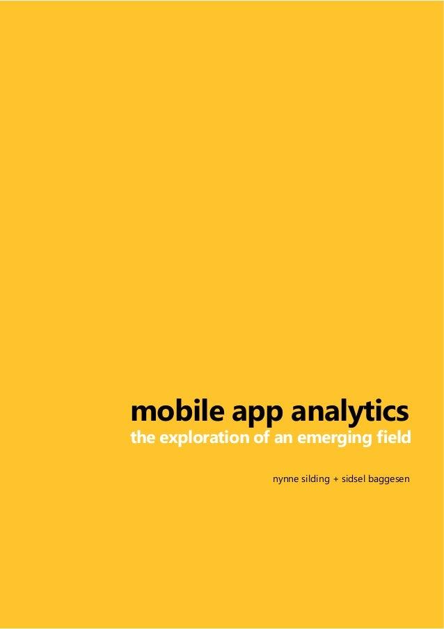 mobile app analytics          nynne silding + sidsel baggesen