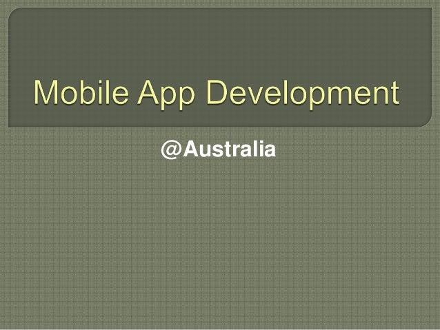 Mobile app development Australia