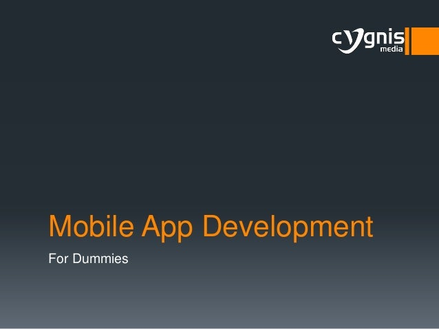 Mobile App Development for Dummies