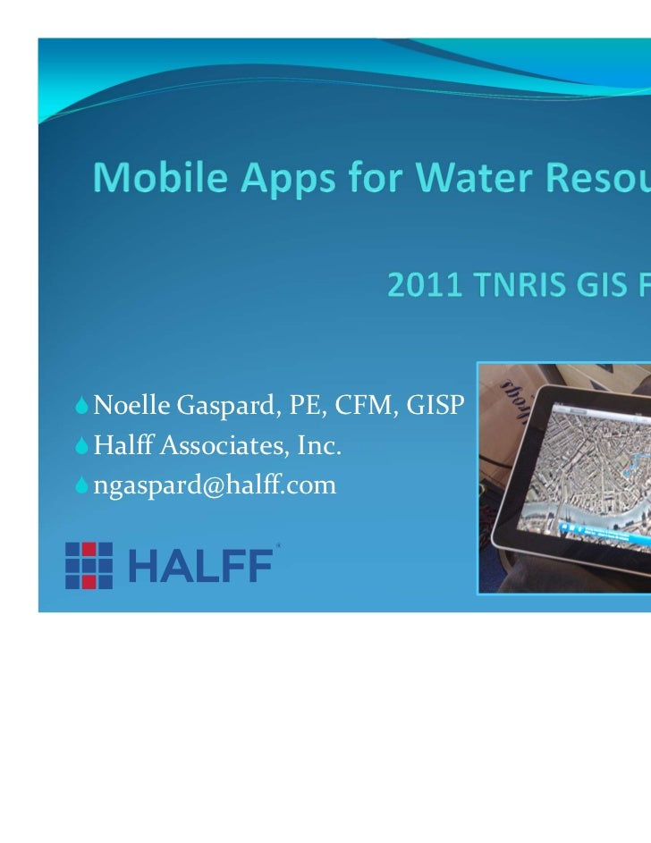 Mobile app for i pad water resources