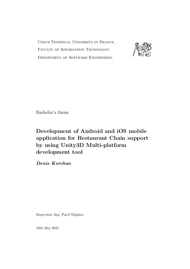 Mobile application development thesis