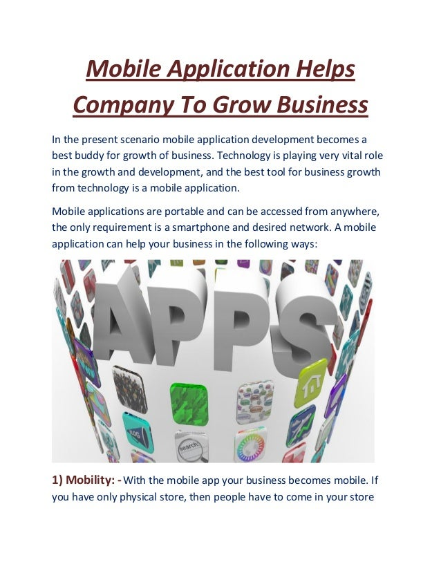 Mobile application helps company to grow business