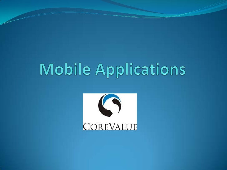 Mobile Applications<br />