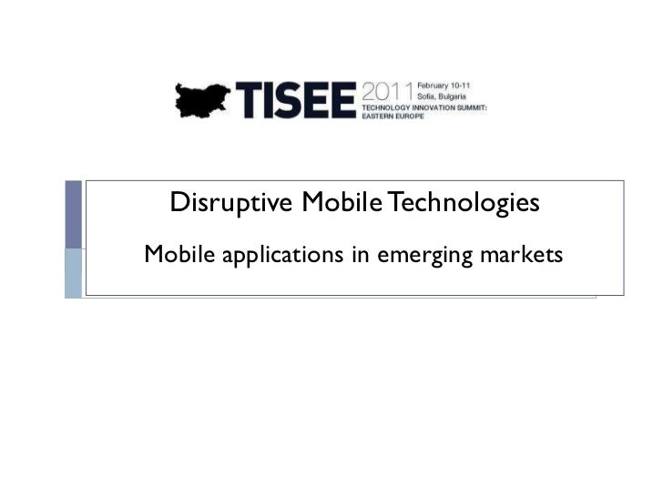 Mobile applications in emerging markets