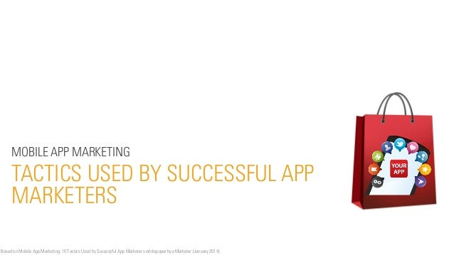 MOBILE APP MARKETING  TACTICS USED BY SUCCESSFUL APP MARKETERS Based on Mobile App Marketing: 10 Tactics Used by Successfu...