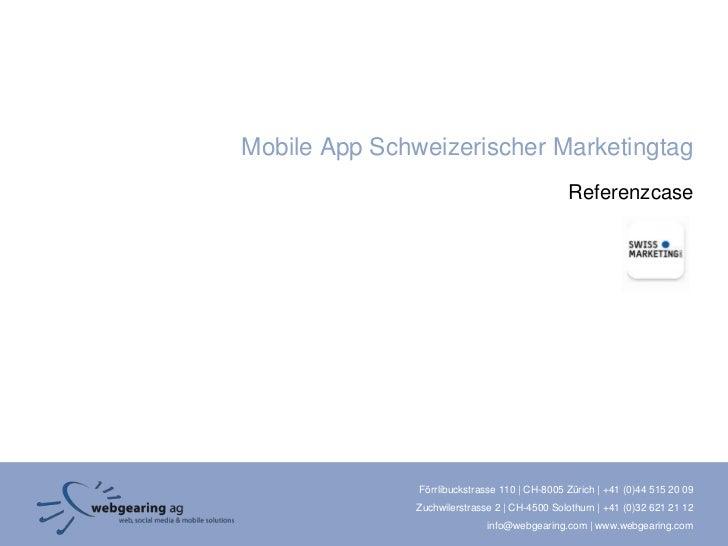 Mobile App Schweizerischer Marketingtag                                               Referenzcase               Förrlibuc...