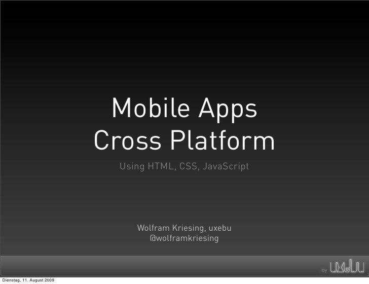 Mobile Apps Cross Platform - Webmontag Frankfurt 2009