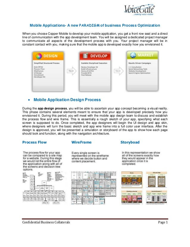 Mobile Applications- A new PARADIGM of business Process OptimizationWhen you choose Copper Mobile to develop your mobile a...