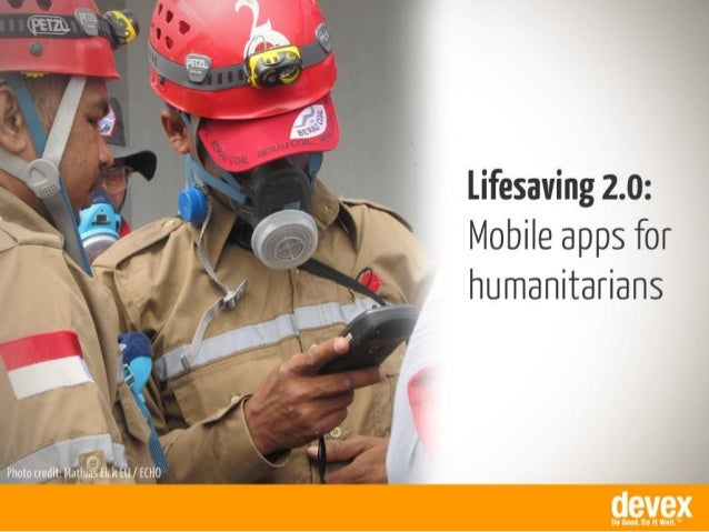 Mobile apps for humanitarians
