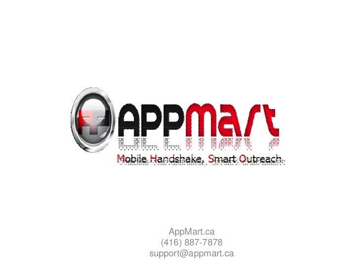 AppMart.ca  (416) 887-7878support@appmart.ca