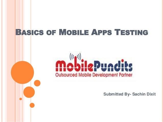 Basics of mobile apps testing tactics