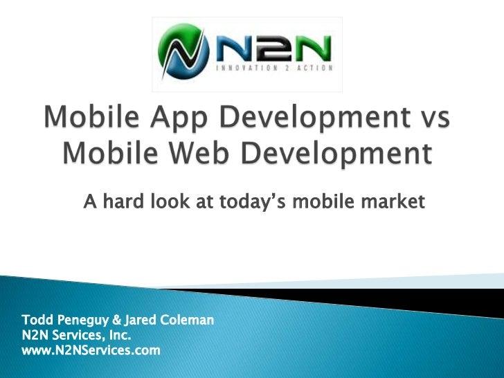 Mobile App vs Mobile Web Development