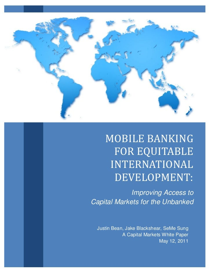 Mobile Banking for Equitable International Development