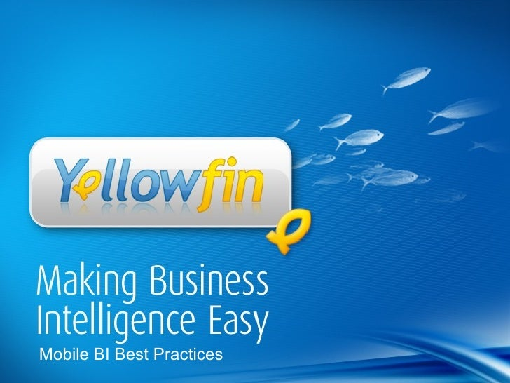 Mobile BI Best Practices