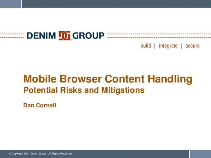 Mobile Browser Content Handling