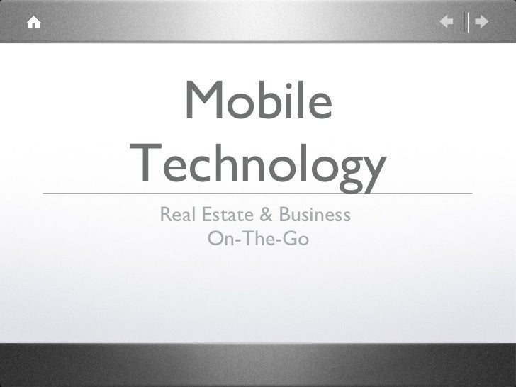 Mobile Real Estate Business & Technology