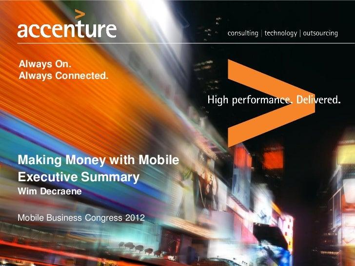 Mobile business 12   summary keynote wim decraene Accenture
