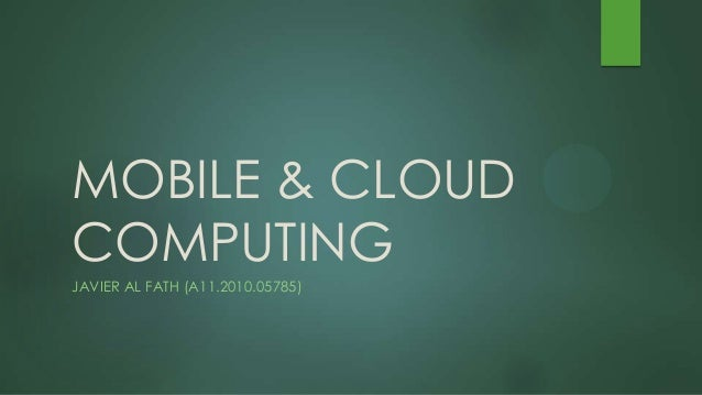 Mobile & cloud computing