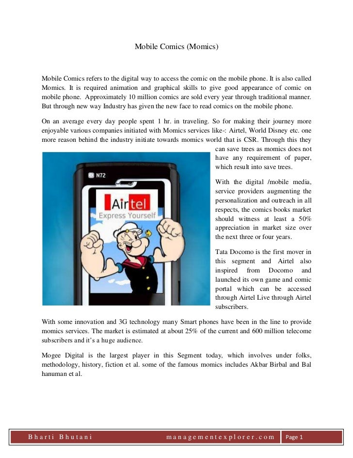 Mobile Comics (Momics)<br />leftcenterMobile Comics refers to the digital way to access the comic on the mobile phone. It ...