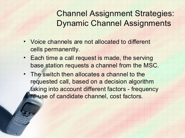 Channel assignment in mobile communication