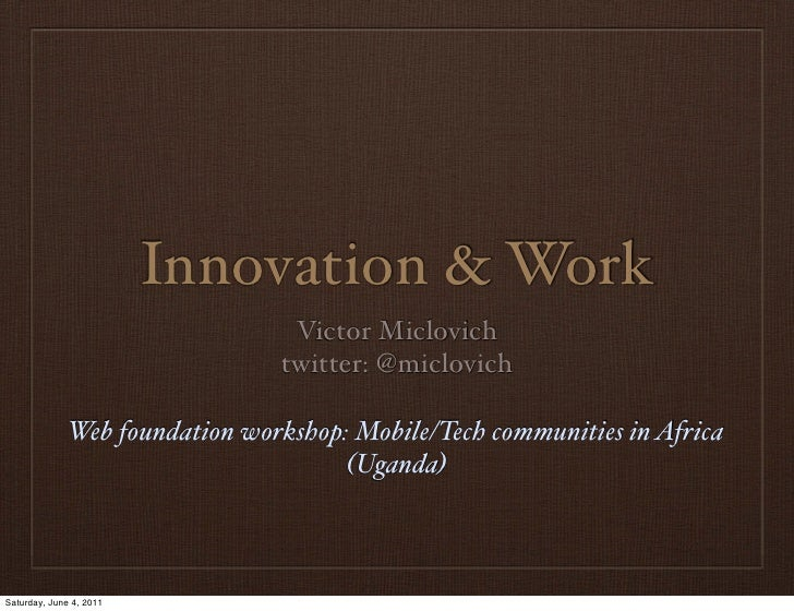 Mobile communities and innovation