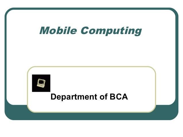Mobile Computing00