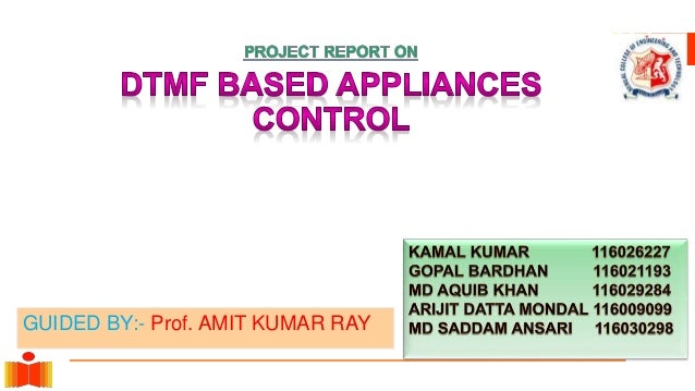 Dtmf Base Mobile Controlled Appliances Control