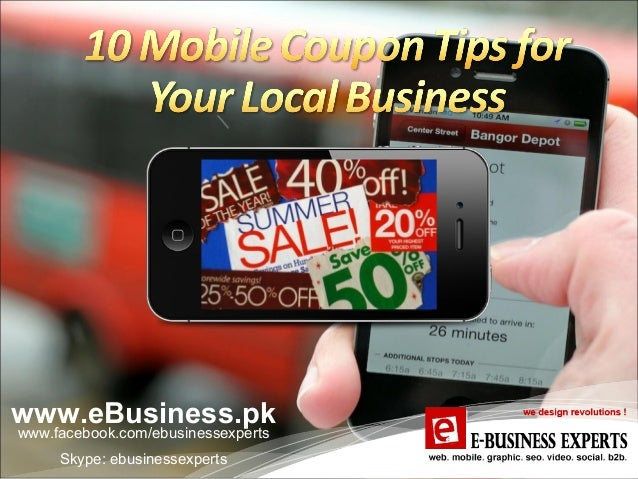 Mobile coupons presentation