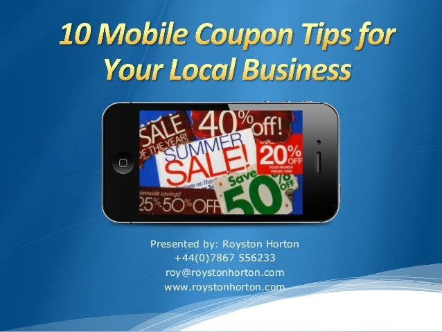 Mobile Coupons Presentation