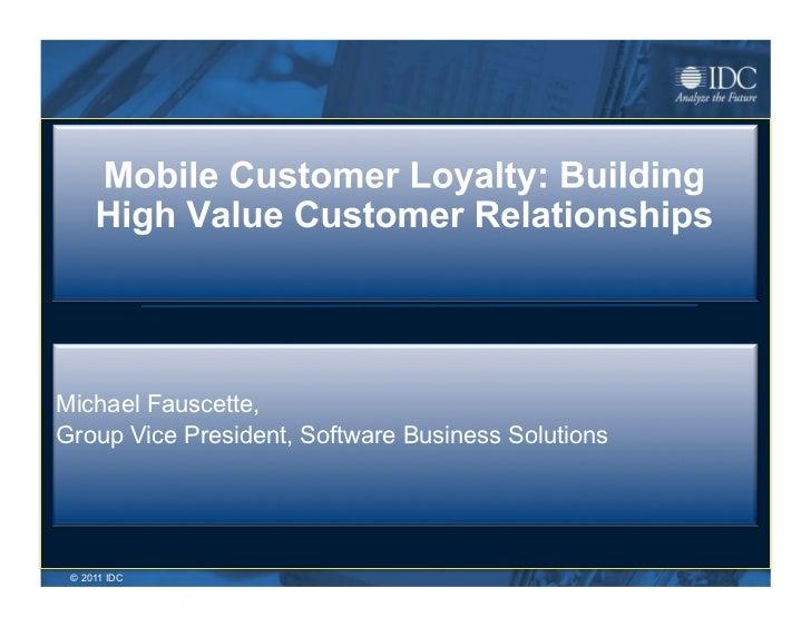Mobile customer loyalty programs