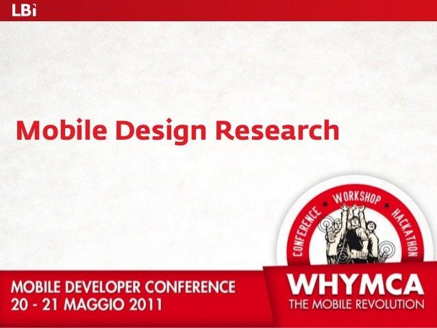Mobile Design Research