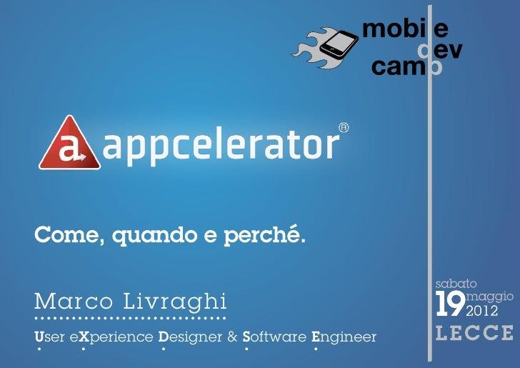 MobileDevCamp2012 - Titanium Appcelerator