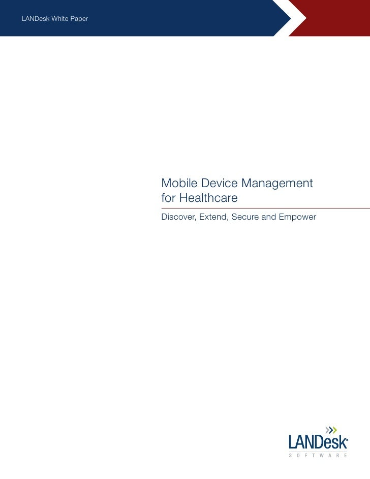 Mobile Device Mgmt Healthcare Whitepaper