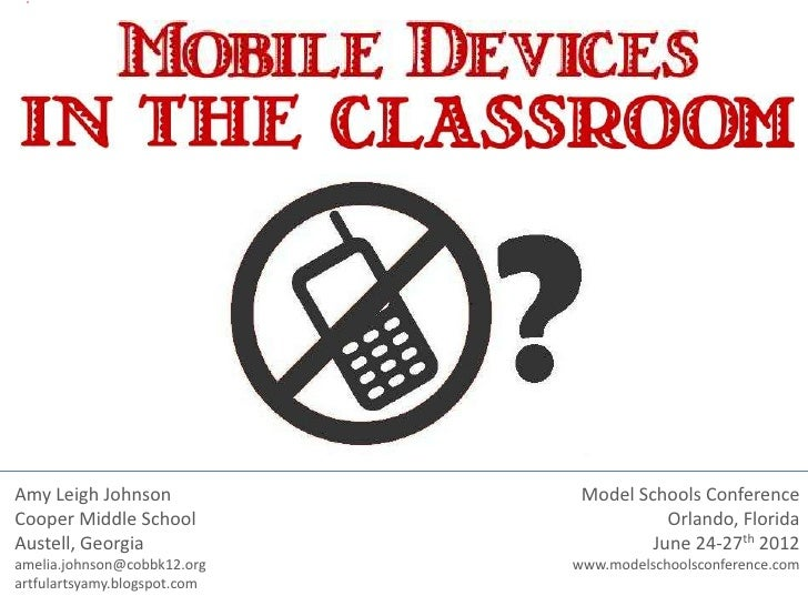 Mobile Devices in Education