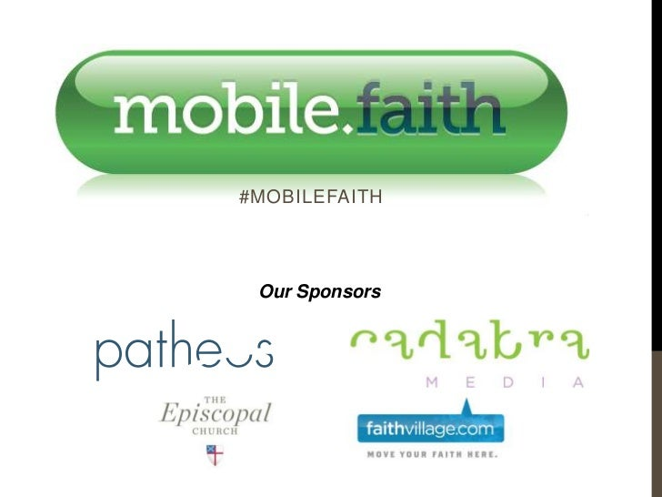#MOBILEFAITH Our Sponsors
