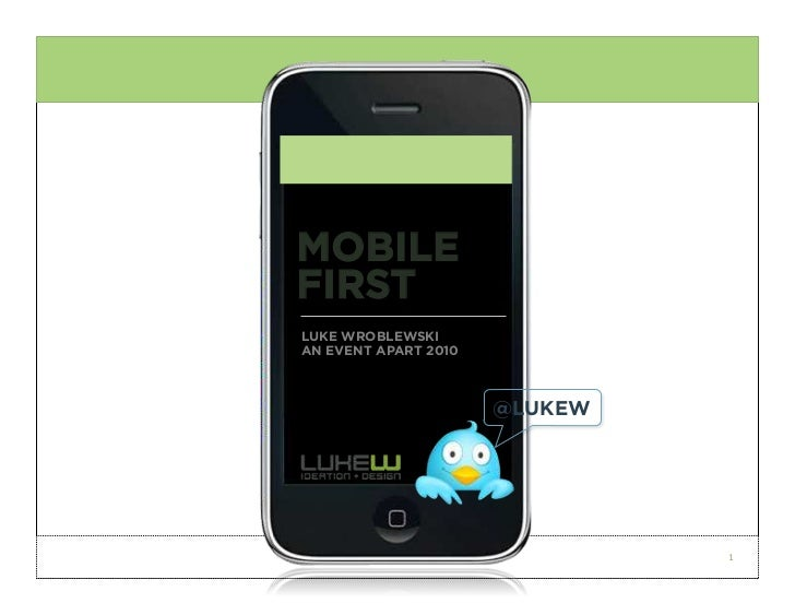 Luke Wroblewski: Mobile First