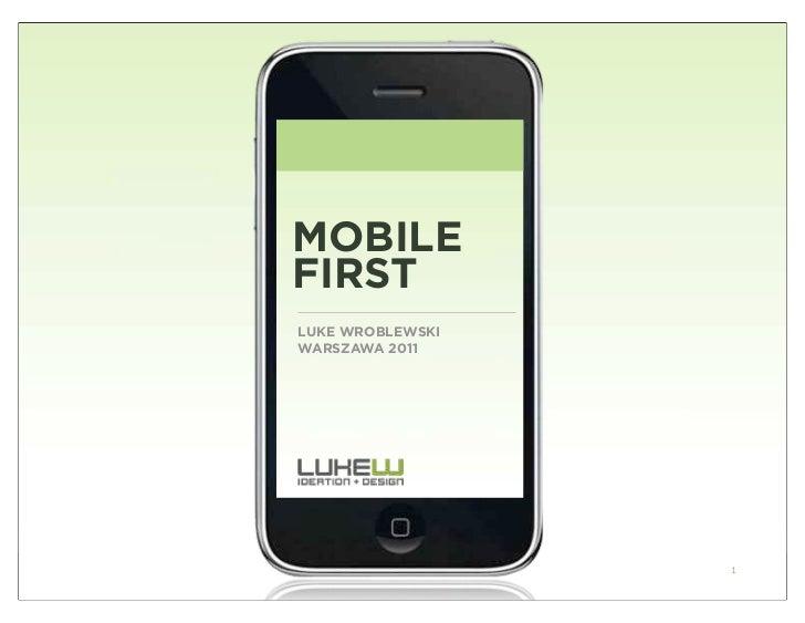 Mobile first luke wroblewski