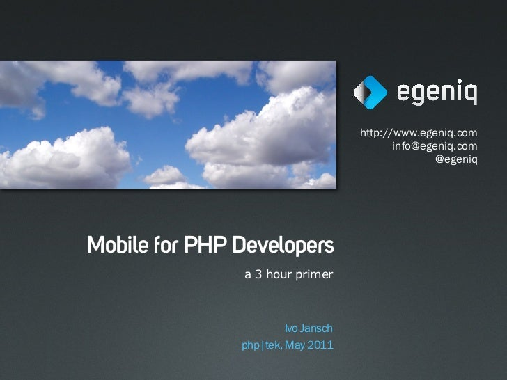 Mobile for PHP developers