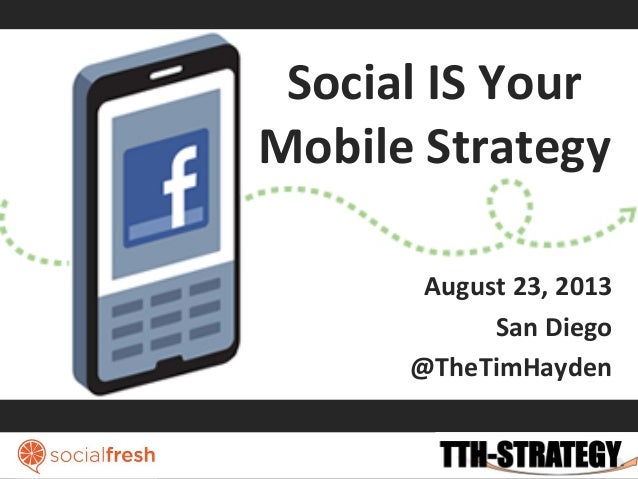 Social	   IS	   Your	    Mobile	   Strategy	    August	   23,	   2013	    San	   Diego	    @TheTimHayden