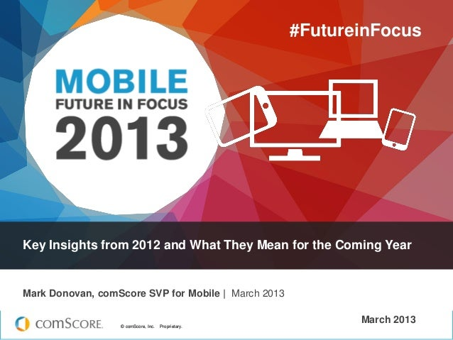 © comScore, Inc. Proprietary.© comScore, Inc. Proprietary.March 2013Key Insights from 2012 and What They Mean for the Comi...