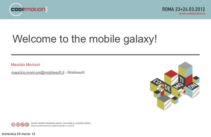 Welcome to the mobile galaxy!