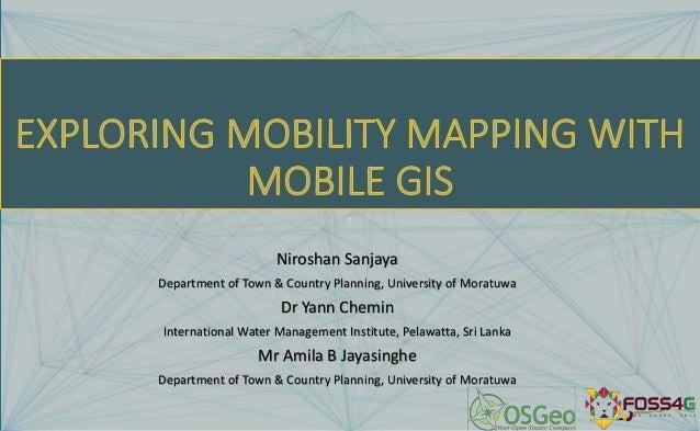 ` Niroshan Sanjaya Department of Town & Country Planning, University of Moratuwa Dr Yann Chemin International Water Manage...