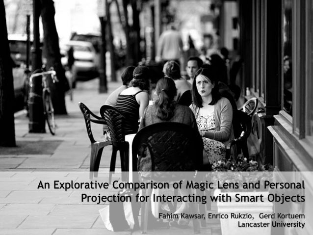 An Explorative Comparison of Magic Lens and Personal Projection for Interacting with Smart Objects Fahim Kawsar, Enrico Ru...