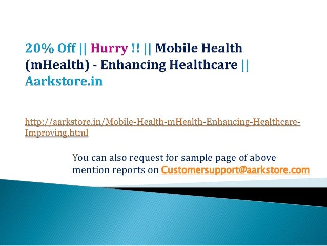 Mobile health (m health)   enhancing healthcare