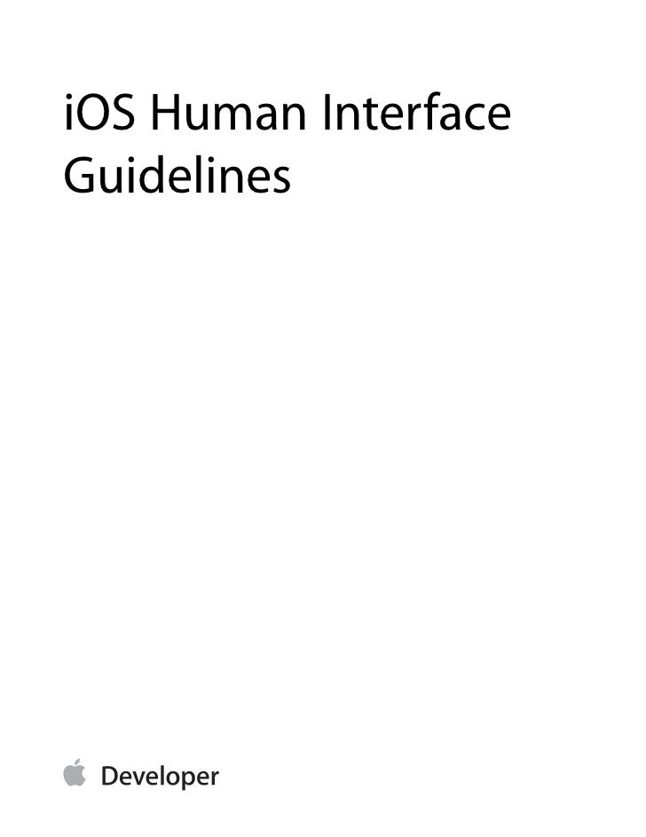 iOS Human InterfaceGuidelines