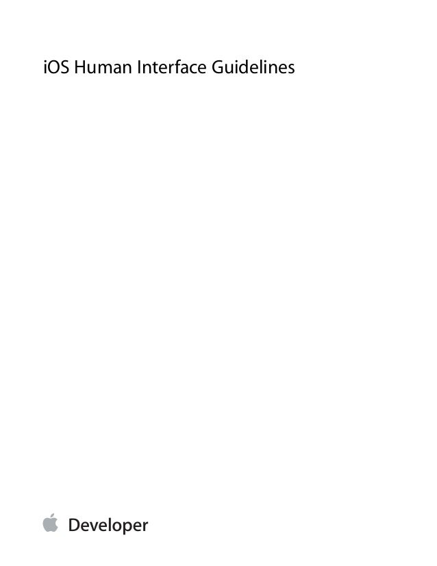iOS 7 Human Interface Guidelines